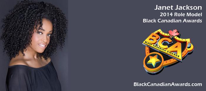 Janet Jackson Role model black canadian awards